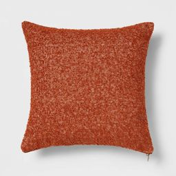 Woven Boucle Square Throw Pillow with Exposed Zipper - Threshold™ | Target