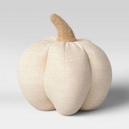 "6"" x 6"" Fabric Pumpkin Figurine Cream - Threshold™ | Target"