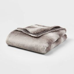 "55""x80"" Faux Fur Throw Blanket - Threshold™ | Target"