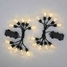 2ct Outdoor Hanging LED Lights Black - Bullseye's Playground™ | Target