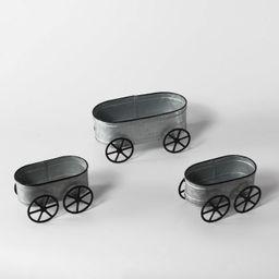 2ct Small Metal Wagons with Large Metal Wagon - Bullseye's Playground™ | Target