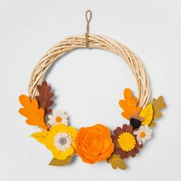 Harvest Indoor Fabric Wreath Hoop with Felt Flowers - Hyde & EEK! Boutique™   Target