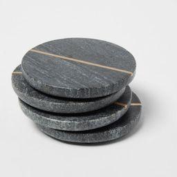 4pk Marble Coasters Gray - Threshold™   Target