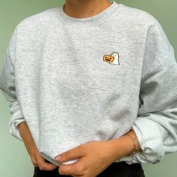 Embroidered Halloween Sweatshirt, Embroidered Ghost, Embroidered Pumpkin, Halloween Sweatshirt, C... | Etsy (US)