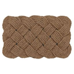 Handknotted Woven Doormat   Pottery Barn (US)