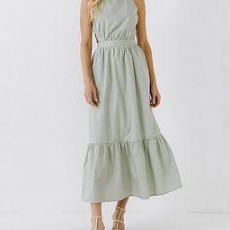 English Factory Open Back Sleeveless Maxi Dress | Express
