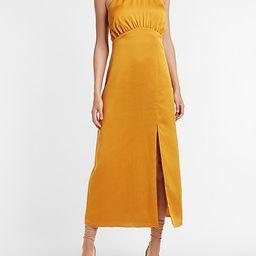 Satin Halter Maxi Dress | Express