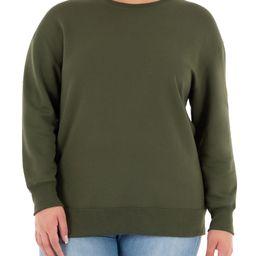 Terra & Sky Women's Plus Size Fleece Sweatshirt - Walmart.com | Walmart (US)