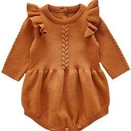 ANATA Newborn Baby Ruffle Long Sleeve Romper Girls Cotton Bodysuit Jumpsuit   Amazon (US)