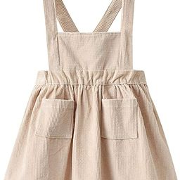 Auro Mesa Baby Infant Girls Straps A-line Corduroy Pinafore Bib Pocket Overall Dress   Amazon (US)