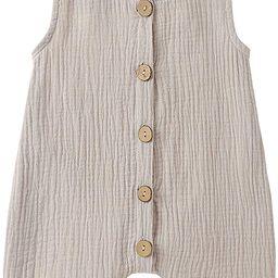 Infant Newborn Baby Boys Girls Cotton Linen Romper Summer Jumpsuit Sleeveless Overalls Clothing S...   Amazon (US)
