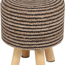REDEARTH Foot Stool -Handmade Wooden 4 Legs Tufted Seat Footrest for Living Room, Bedroom, Nurser...   Amazon (US)