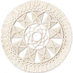 Dahey Macrame Wall Hanging Woven Tapestry Wall Art wreath Boho Chic Home Decor Christmas Day Gift...   Amazon (US)