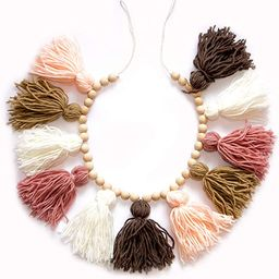 Decocove Tassel Garland - Boho Tassel Garland with Wood Beads - Wall Decor for Dorm, Girls Room a...   Amazon (US)