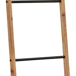 """Amazon Brand – Rivet Contemporary Fir Decorative Blanket Ladder with Iron Rungs - 71.65""""H, Blac...   Amazon (US)"""