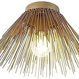 MENG Art Deco Ceiling Lamp   Ceiling Flush Light Gold - Broom - Country - Suitable for Led E27   ...   Amazon (US)