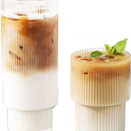 Glass Cup Coffee Mug, Origami Style Transparent Tea Set Heat Resistant Glassware, Wine Ice Beer C...   Amazon (US)