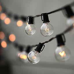 String Lights, Lampat 25Ft G40 Globe String Lights with Bulbs-UL Listd for Indoor/Outdoor Commerc... | Amazon (US)