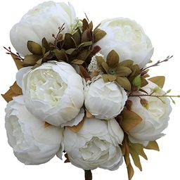 Luyue Vintage Artificial Peony Silk Flowers Bouquet Home Wedding Decoration | Amazon (US)
