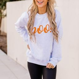 Boo! Graphic Ash Sweatshirt | The Pink Lily Boutique