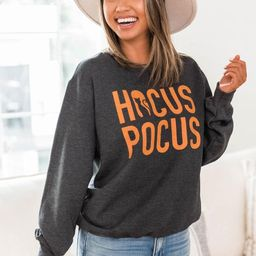 Hocus Pocus Graphic Dark Heather Sweatshirt | The Pink Lily Boutique