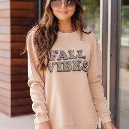 Fall Vibes Animal Print Gold Graphic Sweatshirt | The Pink Lily Boutique