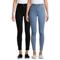 No Boundaries Juniors' High Rise Skinny Jeans, 2-Pack | Walmart (US)