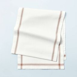 Engineered Border Stripes Oversized Table Runner Sand Dune Brown/Sour Cream - Hearth & Hand&#... | Target