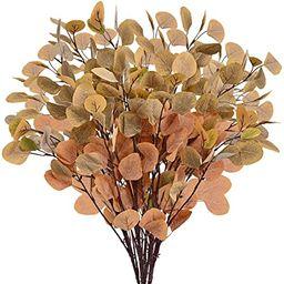 "Artflower 6 Pcs Artificial Eucalyptus Leaves, 35.4"" Tall Silver Dollar Eucalyptus Leaf Greenery S... | Amazon (US)"