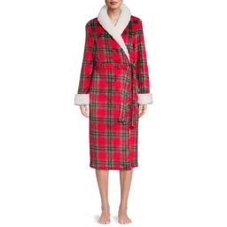 Secret Treasures Women's and Women's Plus Super Faux Mink Robe | Walmart (US)