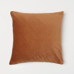 Velvet Cushion Cover, Indoor Fall Decorations, Fall Bedroom Decor, Fall Room Decor, Velvet Pillow | H&M (US)