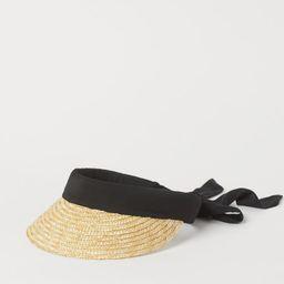 Straw Sun Visor   H&M (US)