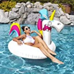 SwimWays Goofimals Cute 43-Inch Outside Giant Water Inflatable Unicorn Pool Float for All Ages   Amazon (US)