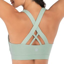 RUNNING GIRL Sports Bra for Women, Criss-Cross Back Padded Strappy Sports Bras Medium Support Yog... | Amazon (US)