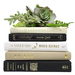 Bundle of Black, Beige, Ivory, Tan, White Decorative Books - Real Hardcover Bookshelf Insert - Cr... | Etsy (US)