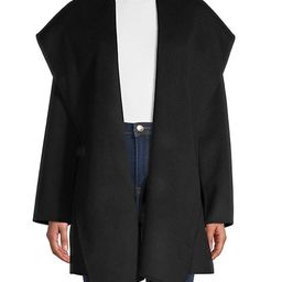 Wool-Blend Open-Front Hooded Coat   Saks Fifth Avenue OFF 5TH