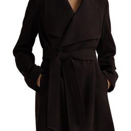Belted Drape Front Coat   Nordstrom