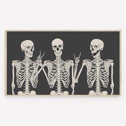 Halloween Samsung Frame TV Art, Funny Skeletons, Fall Art, Modern Halloween, Digital Download, In...   Etsy (US)