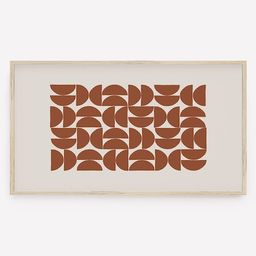 Geometric Frame TV Art, Terracotta Mid Century Modern, Samsung TV Abstract, Digital Download, Ins...   Etsy (US)