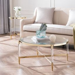 Silver Orchid Henderson Acrylic Cocktail Table - Glass - plated gold | Overstock
