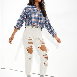 AE Cropped Flannel Shirt | American Eagle Outfitters (US & CA)