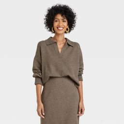 Women's Collared Split Neck Pullover Sweater - A New Day™   Target