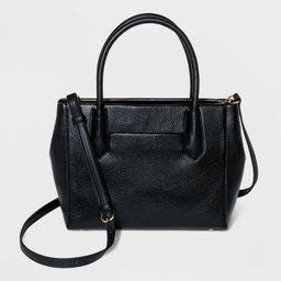 Zip Closure Satchel Handbag - A New Day™   Target