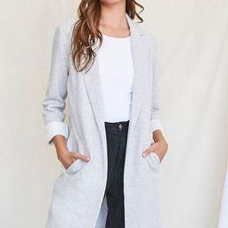 Heathered Knit Longline Jacket | Forever 21 (US)