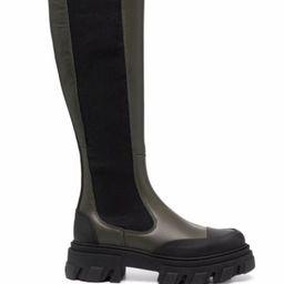 knee-high chunky boots | Farfetch (UK)