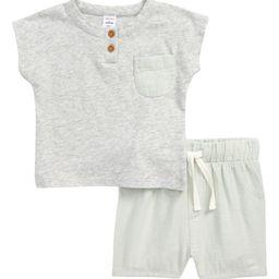 Pocket Henley T-Shirt & Shorts Set   Nordstrom   Nordstrom