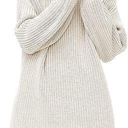 LILLUSORY Women's Turtleneck Fall Long Batwing Sleeve Casual Loose Oversized Sweater Dress Winter... | Amazon (US)