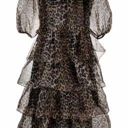 puff-sleeves tiered dress | Farfetch (UK)