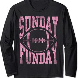 Cute Sunday Funday Football Long Sleeve Shirt Women Girls   Amazon (US)