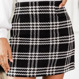 Because I Found You Black Plaid Skirt | The Pink Lily Boutique